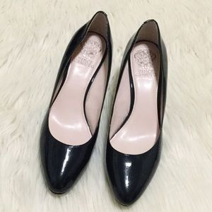 Vince Camuto Navy Blue Patent Heels